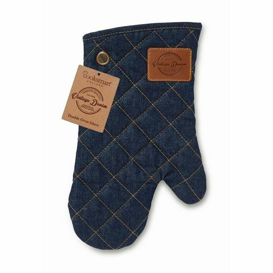 Oven Glove Oxford Denim Blue