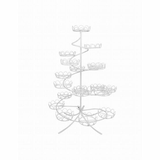Wire Cupcake Stand - White (460 x 320mm /18.1 x 12.6