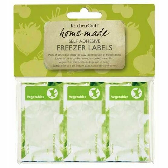 Freezer Labels Pack of Sixty Assorted