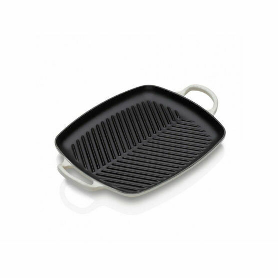 Le Creuset Cast Iron 30cm Rectangular Grill Meringue