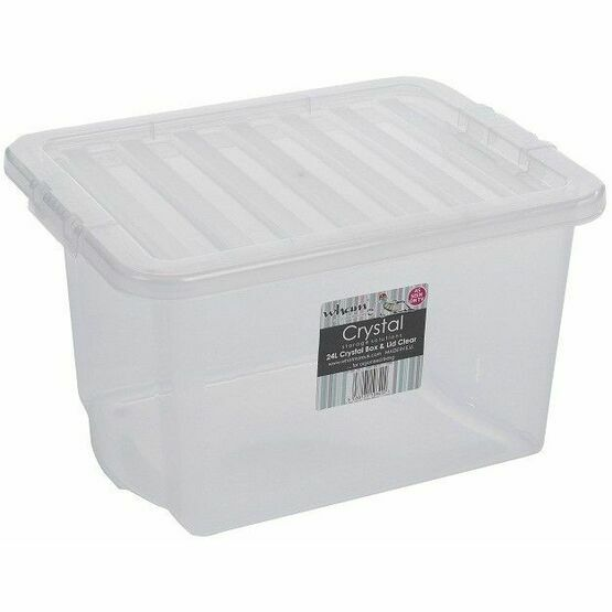Wham Crystal 24ltr Box & Lid Clear - 10840