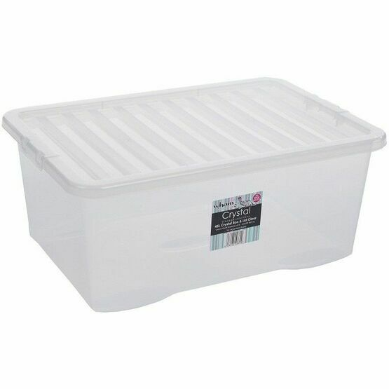 Wham Crystal 45ltr Box & Lid Clear - 10870
