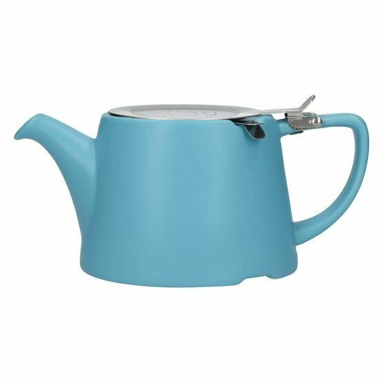 London Pottery Oval Filter Teapot 3cup Satin Blue