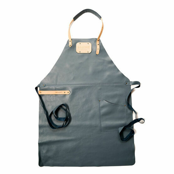I.O.Shen Leather Apron Ocean Blue