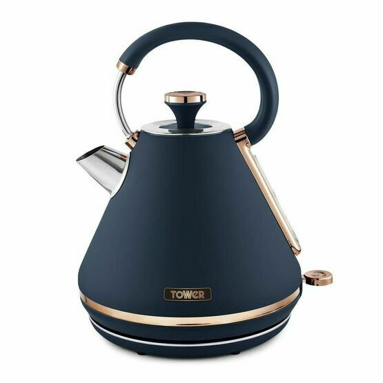 Tower Caveletto 3KW 1.7L Pyramid Kettle Midnight Blue