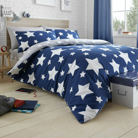 Bedlam Duvet Cover Set Stars Blue