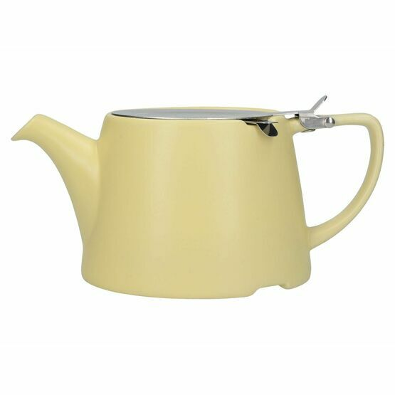London Pottery Oval Filter Teapot 3cup Satin Buttercup